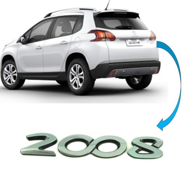 Emblema Tampa Traseira Peugeot 2008 Original