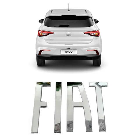 Emblema Traseiro Fiat Argo 2017 2018 2021 Original
