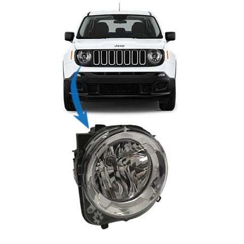 Farol Dianteiro Direito Jeep Renegade 2015 2020 Original