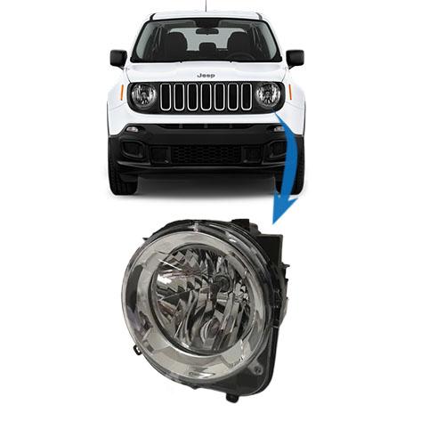 Farol Dianteiro Esquerdo Jeep Renegade 2015 2020 Original