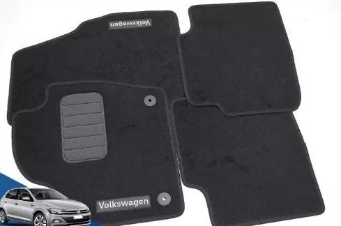 Jogo Tapete Carpete Volkswagen Novo Polo 2018 2019 Original