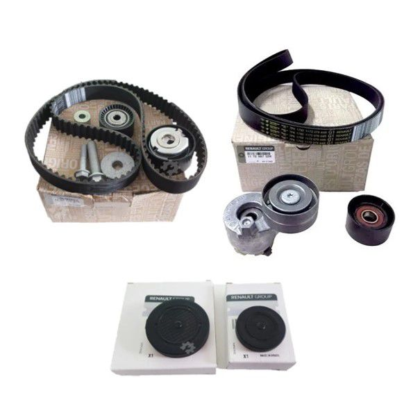 Kit Correia Dentada + Kit Acess + Tampoes F4r 2.0 16v Duster