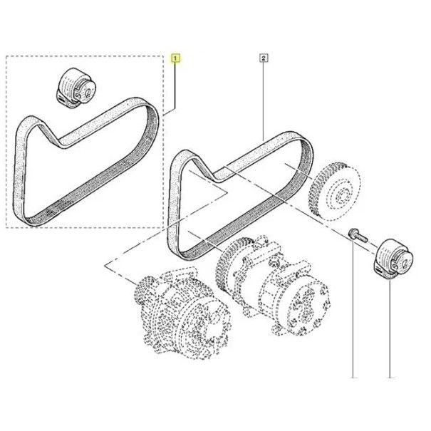 Kit Correia Poly V Acessórios Megane Grand Tuor 1.6 16v K4m