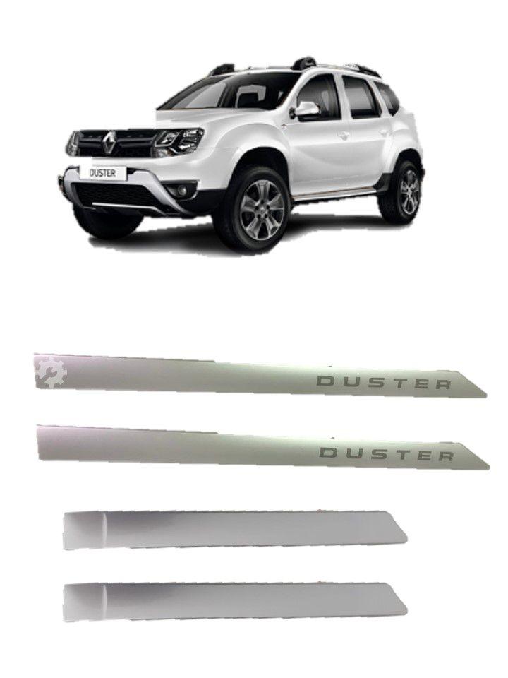 Kit Friso Lateral Portas Prata Renault Duster Original