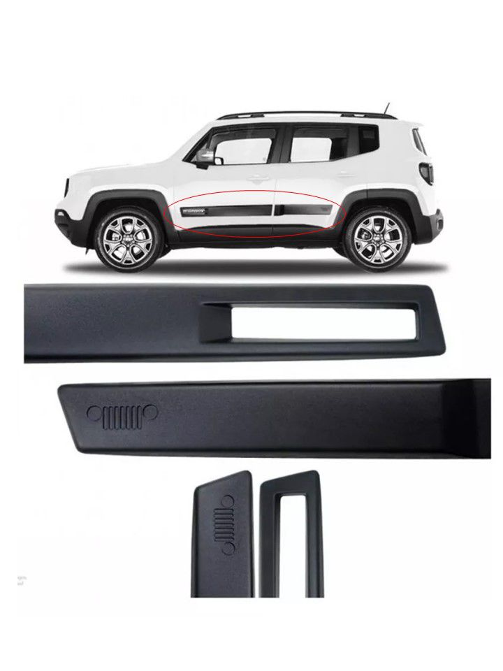 Kit Friso Lateral Preto Jeep Renegade Original Mopar