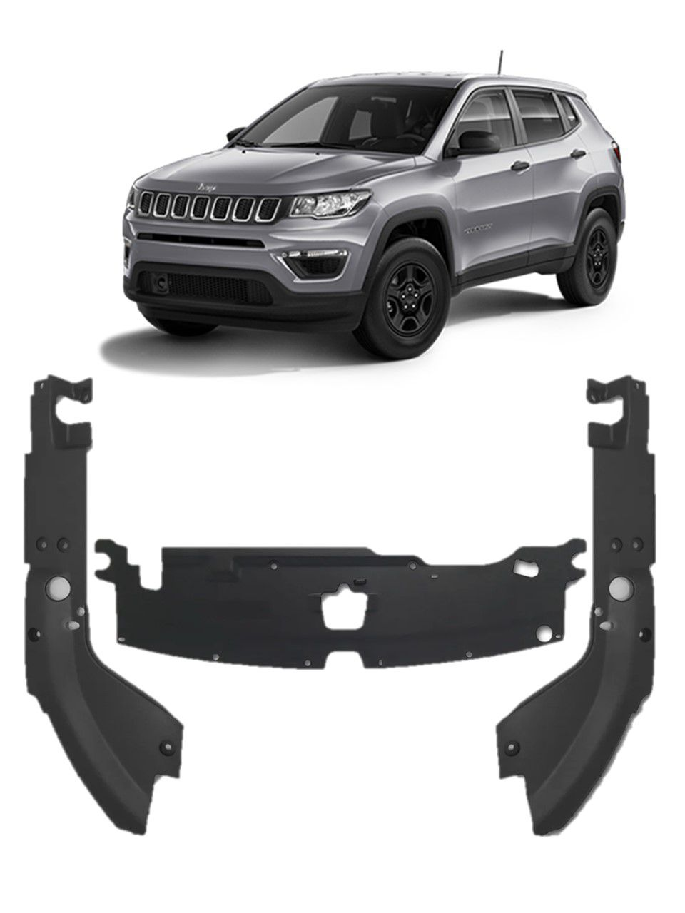 Kit Moldura Acabamento Motor Jeep Compass 19 2020 Original