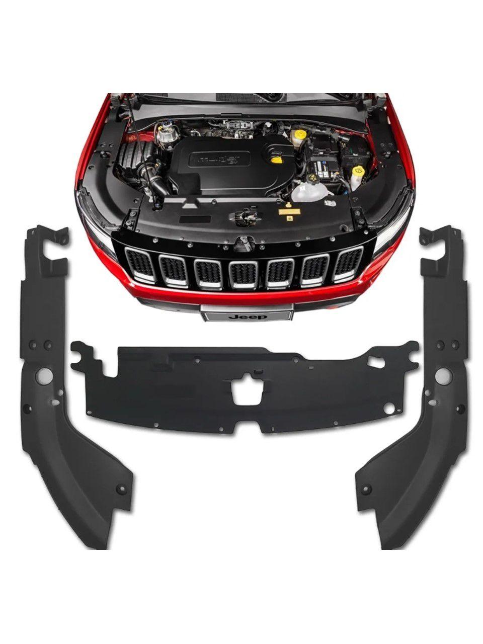 Kit Moldura Acabamento Motor Jeep Compass 19 2020 Original