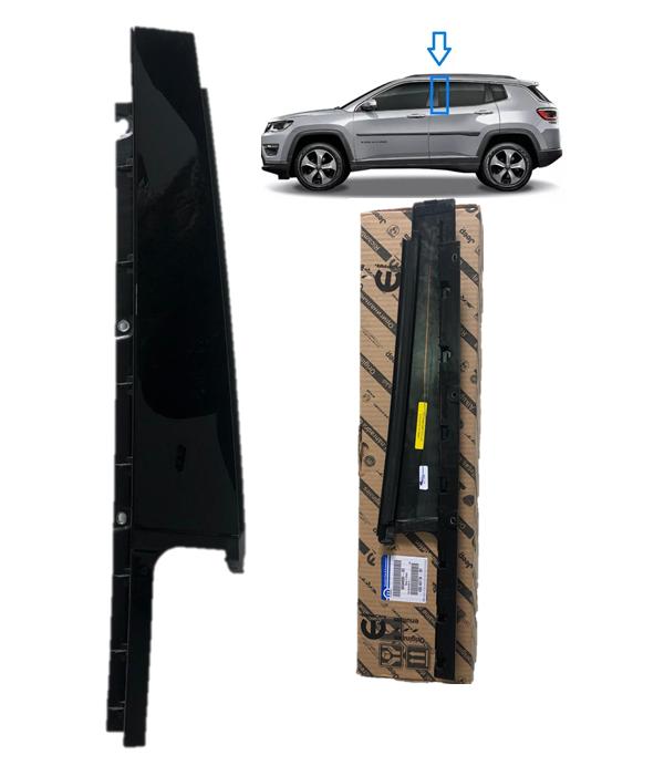 Kit Moldura Coluna da Porta Dian + Tras. Esquerda + Friso da porta Jeep Compass Original