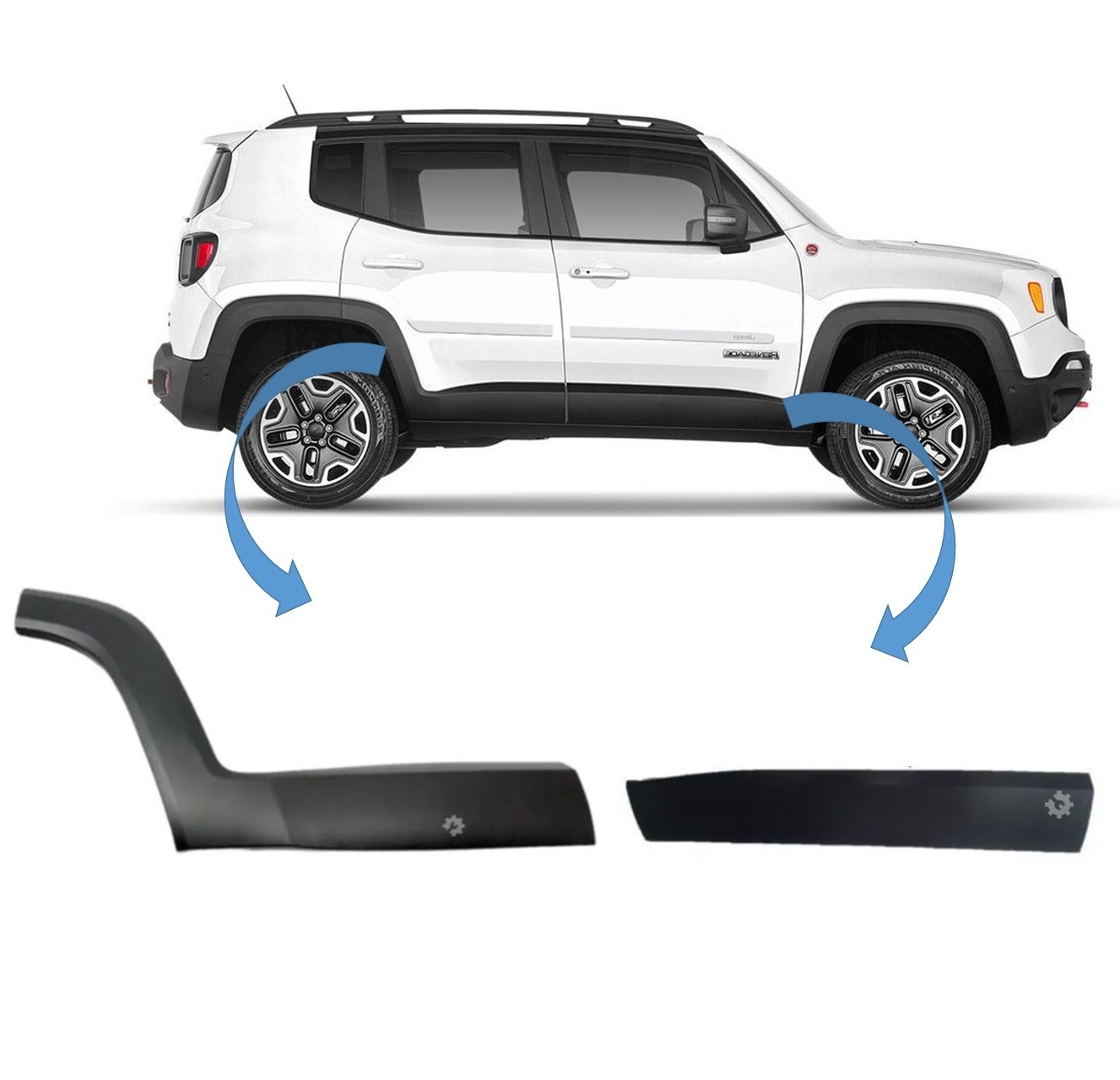 Kit Moldura Lateral Direito Jeep Renegade 2015 2019 Original