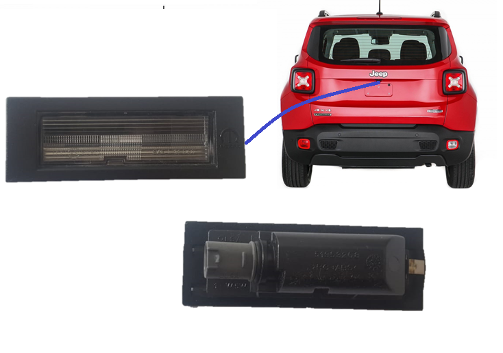 Lanterna Luz de Placa Jeep Renegade 2016 17 18 2019  Original