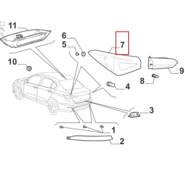 Lanterna Traseira Esquerda Fiat Cronos 2018 2019 2020 Original