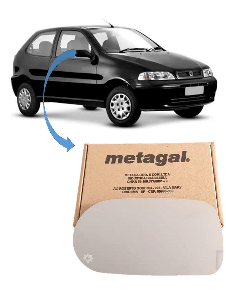 Lente base Retrovisor Direito Fiat Palio G2 G3 2001 02 2003