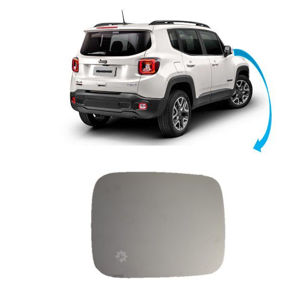 Lente Base Retrovisor Direito Jeep Renegade 2015 2017 2020