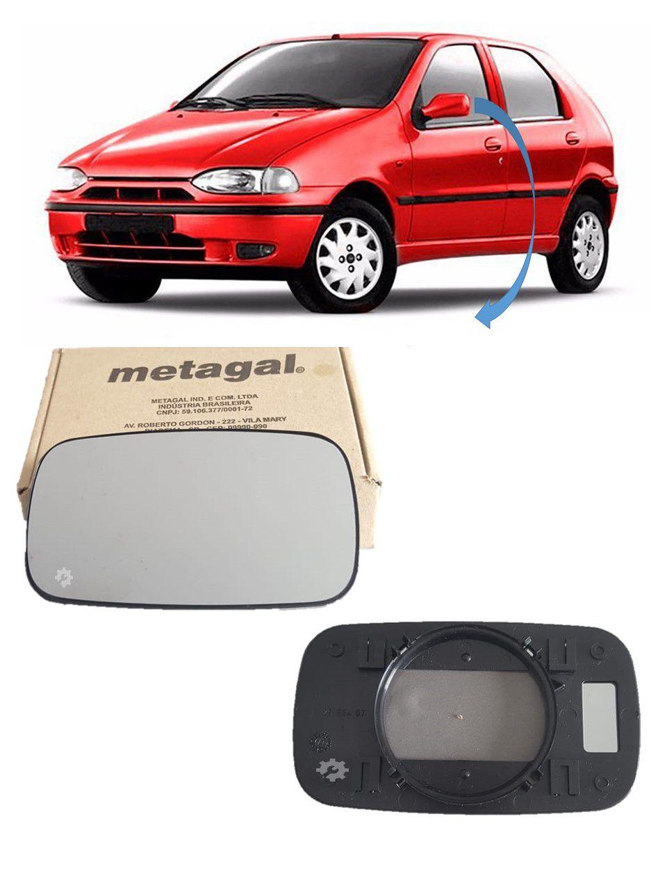 Lente base Retrovisor Esquerdo Fiat Palio Strada 1996 98 2000