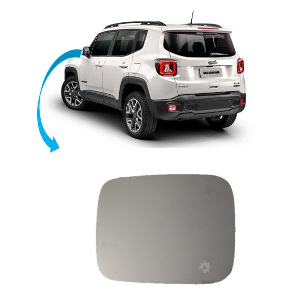 Lente Base Retrovisor Esquerdo Jeep Renegade 2015 2017 2020