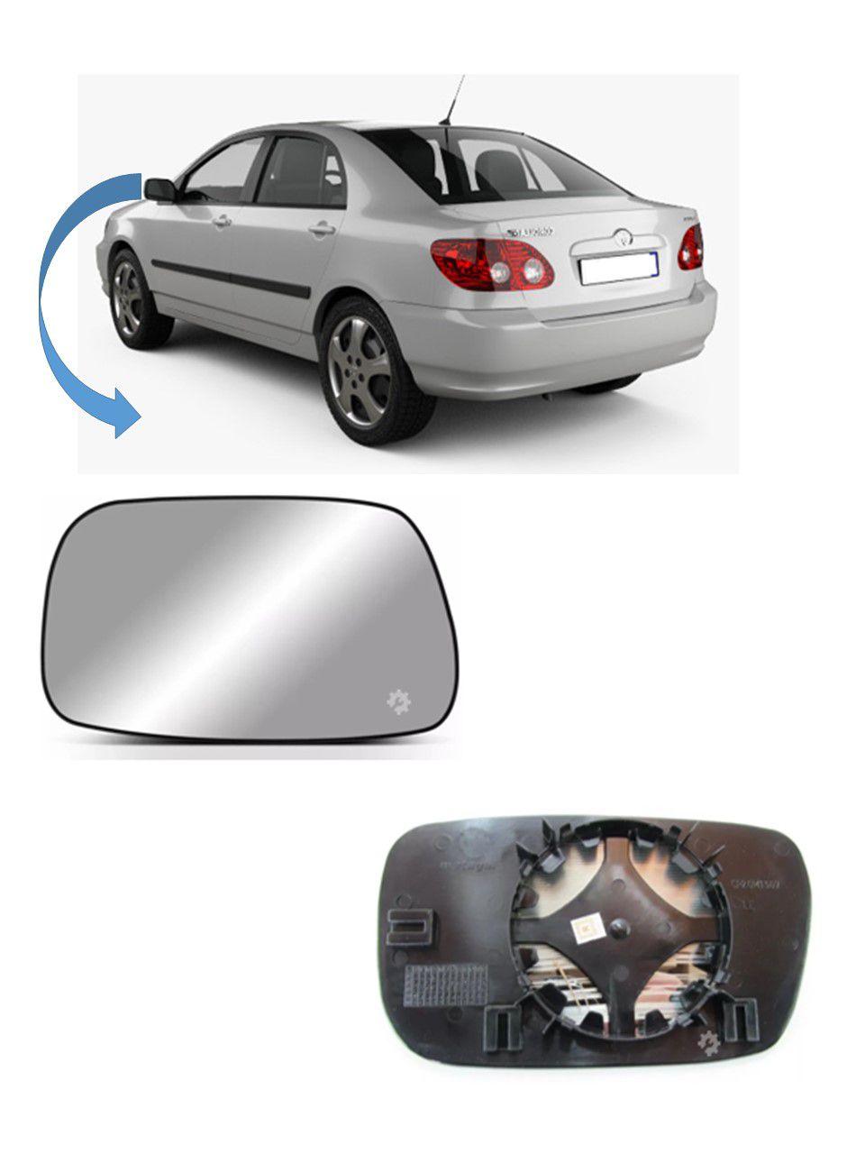 Lente base Retrovisor Esquerdo Toyota Corolla 2002 2005 2007
