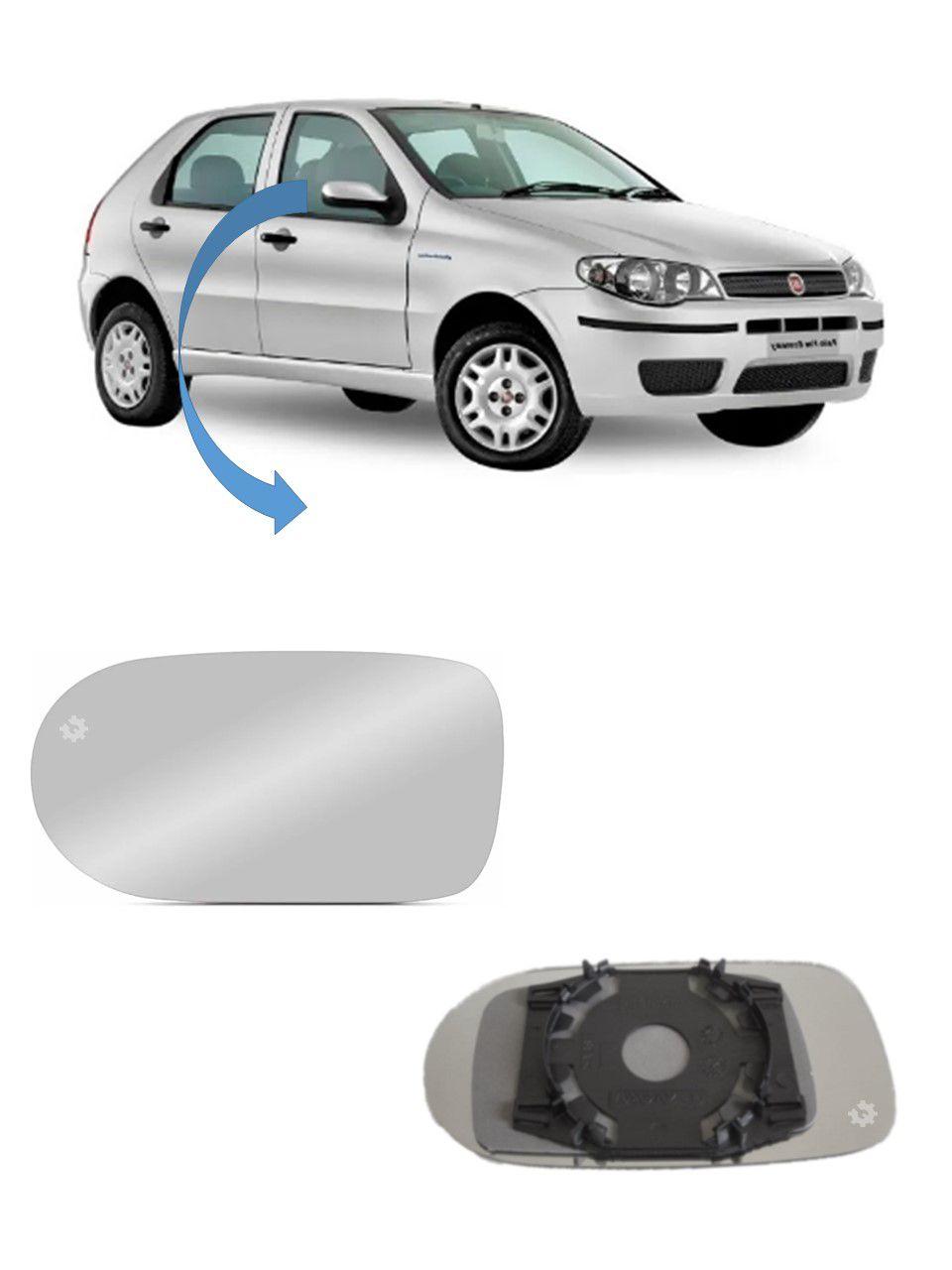 Lente base vidro Retrovisor Direito Fiat Palio 2004 05 2010