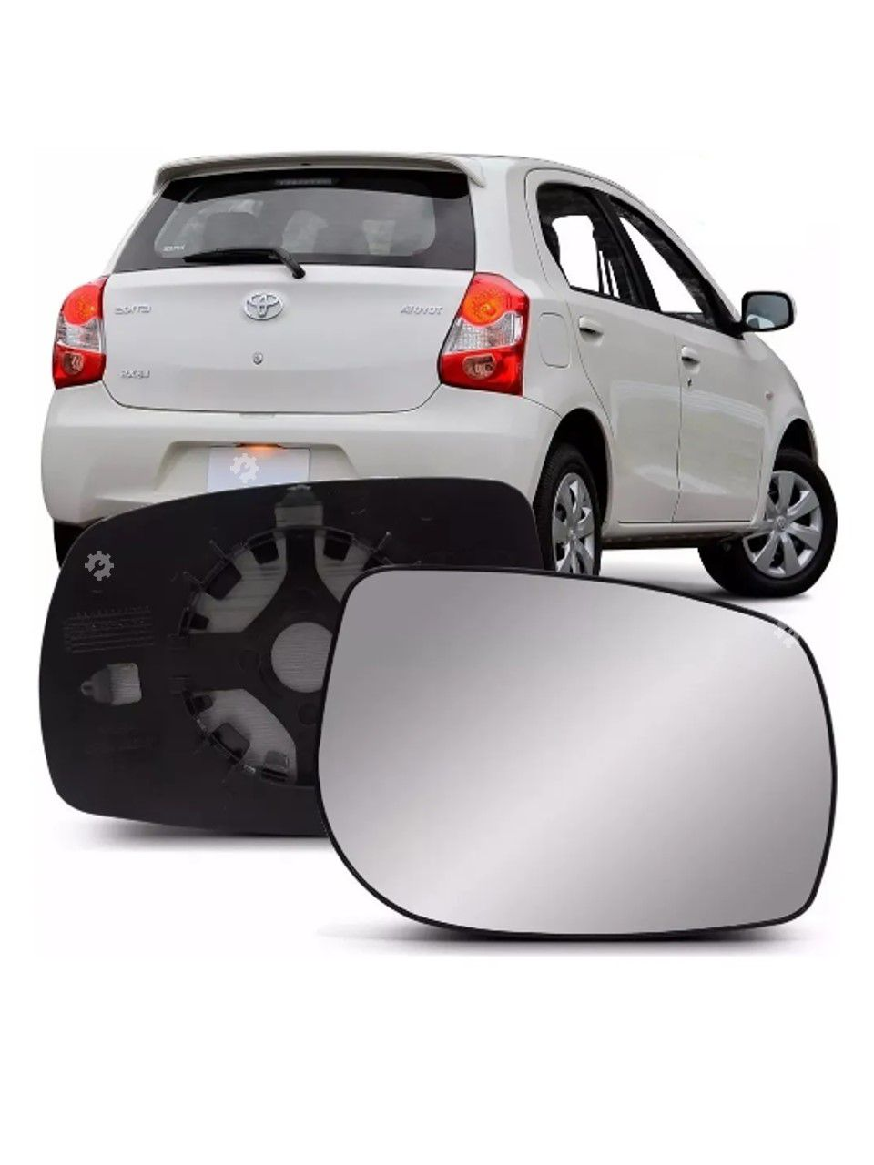 Lente base vidro Retrovisor direito Toyota Etios 2012 2013