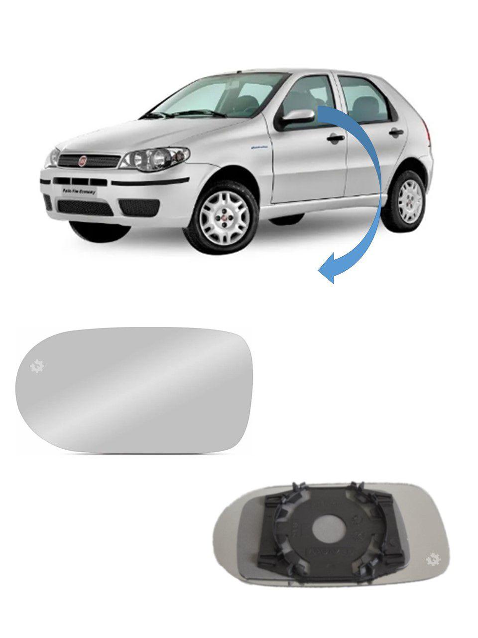 Lente base vidro Retrovisor Esquerdo Fiat Palio 2004 05 2010