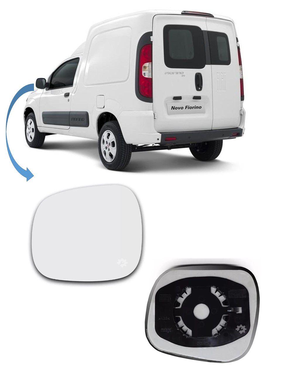 Lente Vidro base Retrovisor Esquerdo Fiat Fiorino 2014 2019