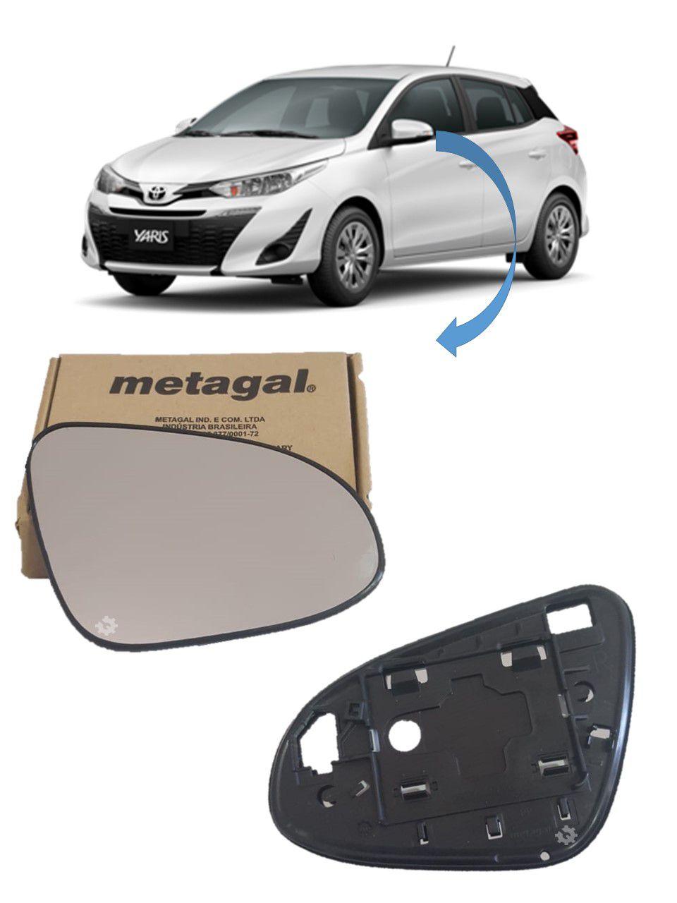 Lente Vidro Base Retrovisor Esquerdo Toyota Yaris 2018 2019