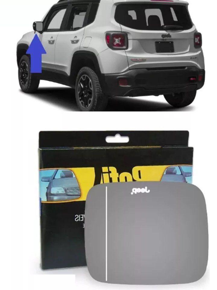 Lente Vidro Retrovisor Esquerdo Jeep Renegade 2015 2016 2018
