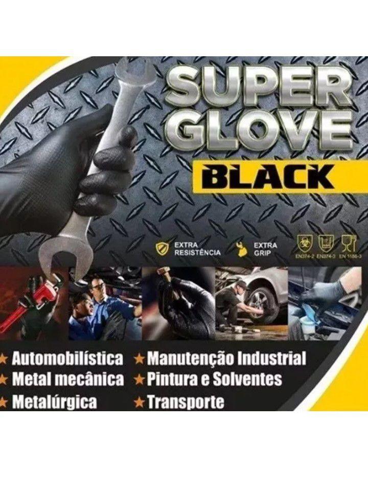 Luva Mecânica Super Glove Black Tamanho P impermeável Jahu