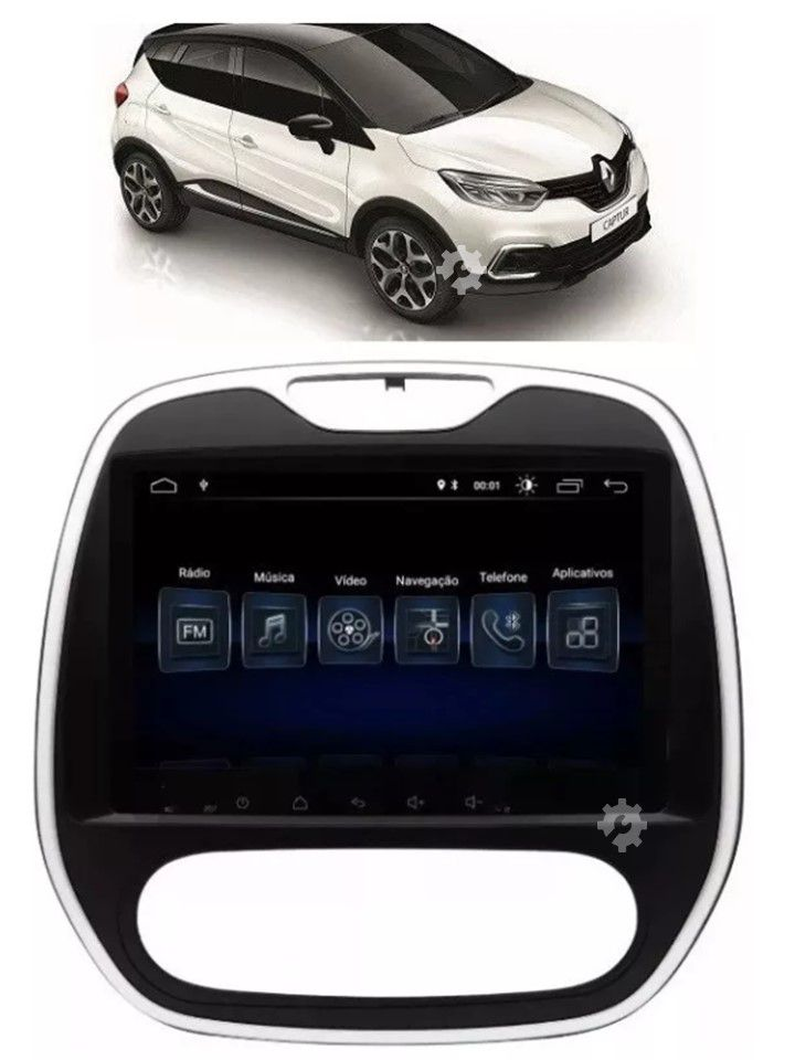Media Nav Smart Nav 9 + Câmera Ré Captur Pcd 17 2018 2019 Original