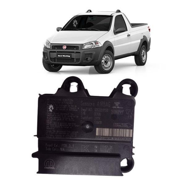 Modulo Central Airbag Fiat Strada Original 2013 2015 17 2020