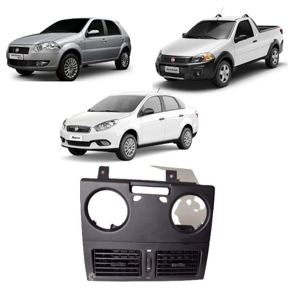 Moldura central painel difusor Fiat palio siena strada 2004