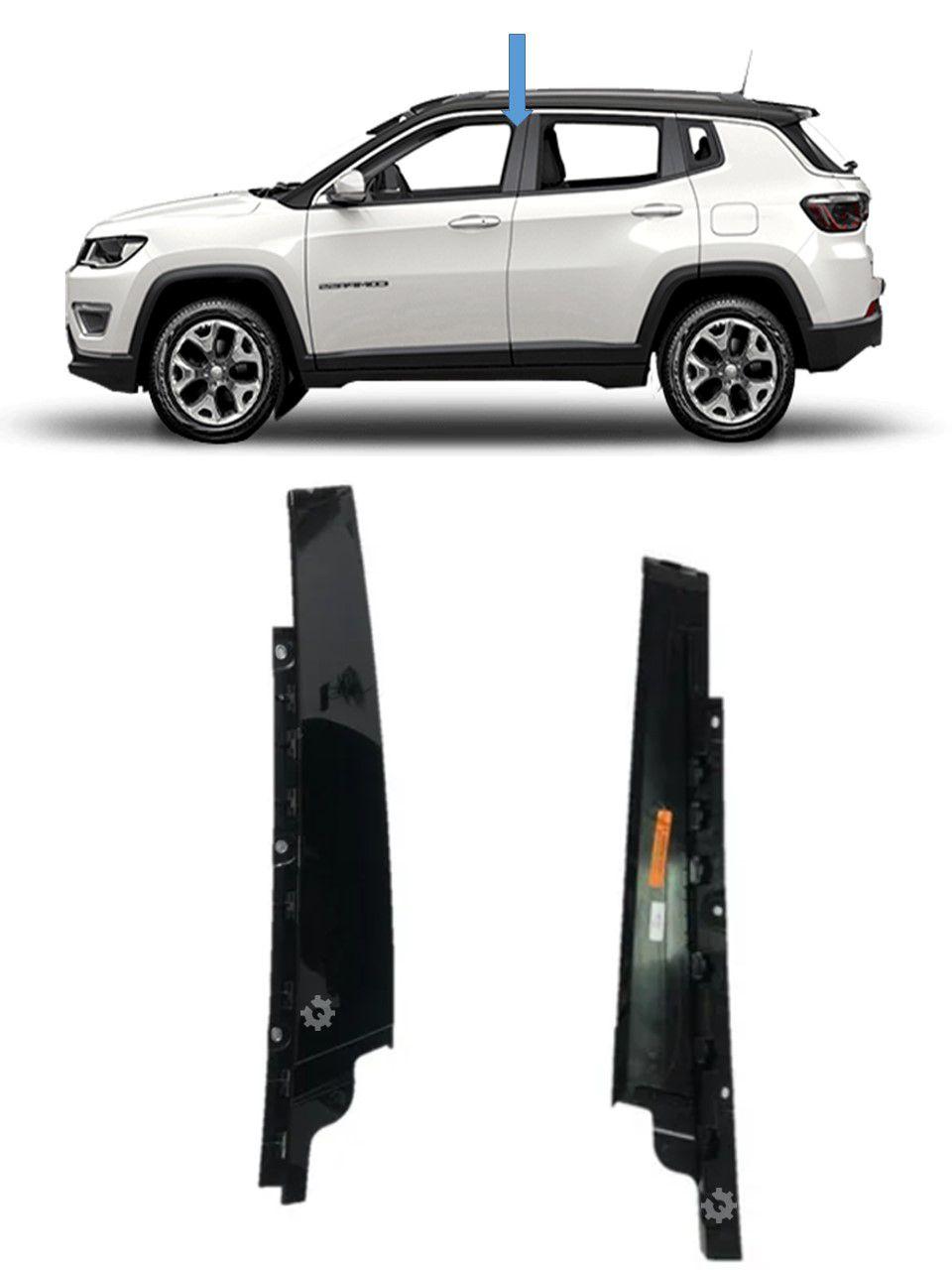 Moldura Coluna Porta Dianteira Esquerda Jeep Compass Original