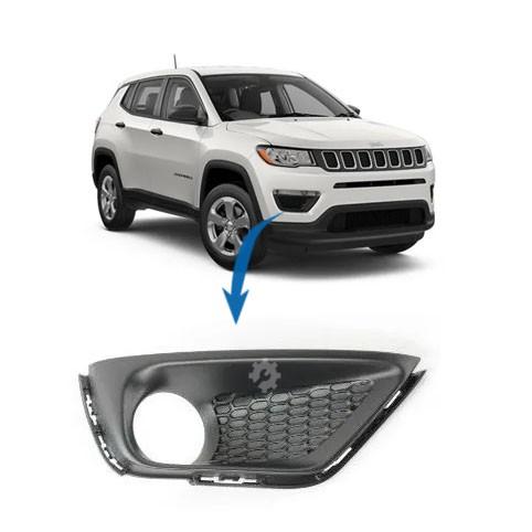 Moldura Farol Neblina Esquerdo Jeep Compass Flex 2017 2020