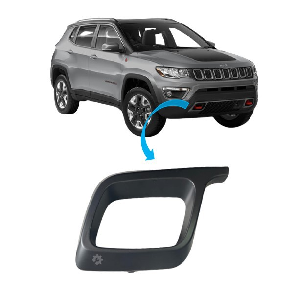 Moldura Grade Inferior Direita Jeep Compass 2017 2020 Original