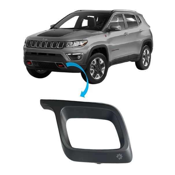 Moldura Grade Inferior Esquerda Jeep Compass 2017 2020 Original