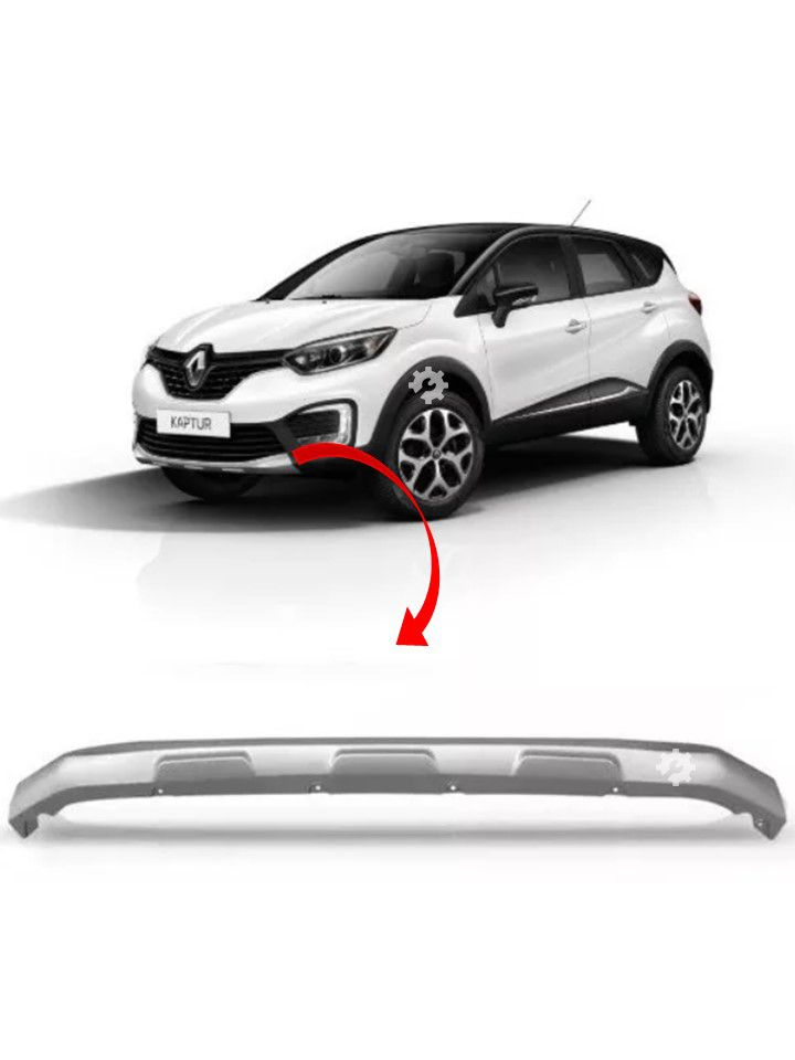 Moldura Inferior Parachoque Captur 2017 2018 Cinza Original