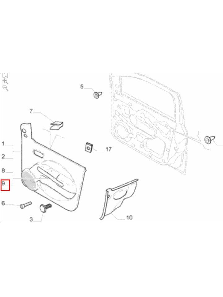 Moldura Puxador Porta Vidro Manual Esquerdo Uno Original