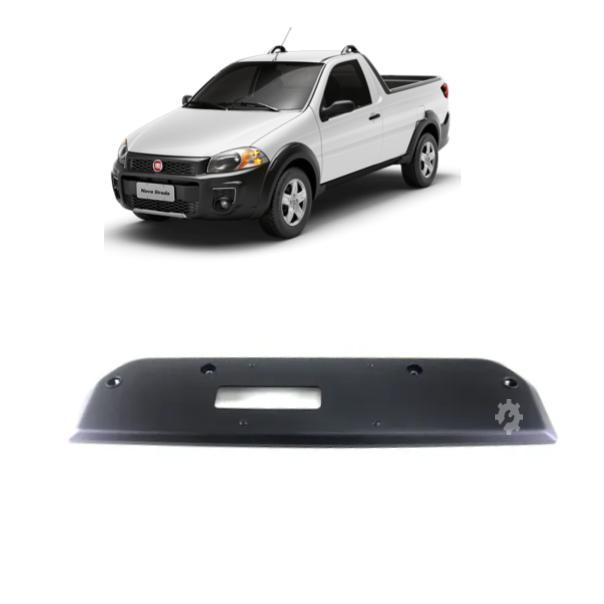 Moldura Suporte Placa Traseira Fiat Strada 2013 2020