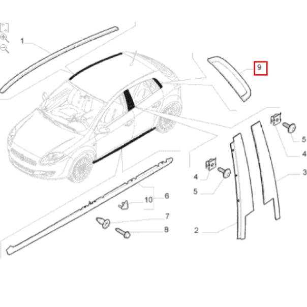 Moldura Traseira Direita Porta Fiat Bravo 2011 2016 Original