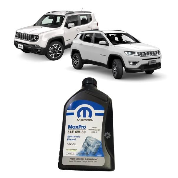 Oleo jeep compass Renegade Diesel mopar sintetico DPF 5W30