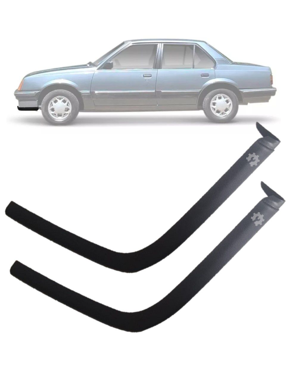 Par Acabamento Lateral Moldura Parachoque Dianteiro Chevrolet Monza