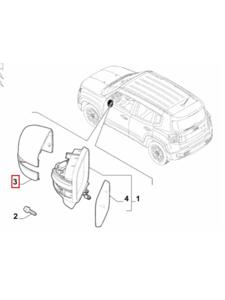 Par Capa Retrovisor Jeep Renegade 2015 16 17 18 19 Original