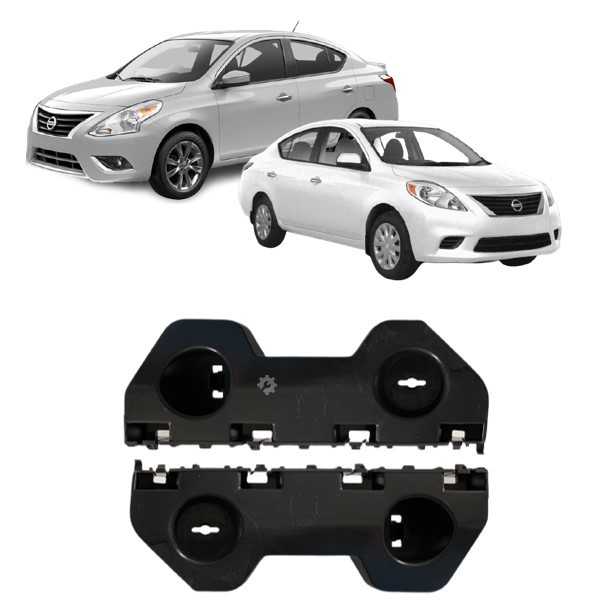 Par Guia Parachoque Dianteiro Nissan Versa 2012 2014 2016 2019