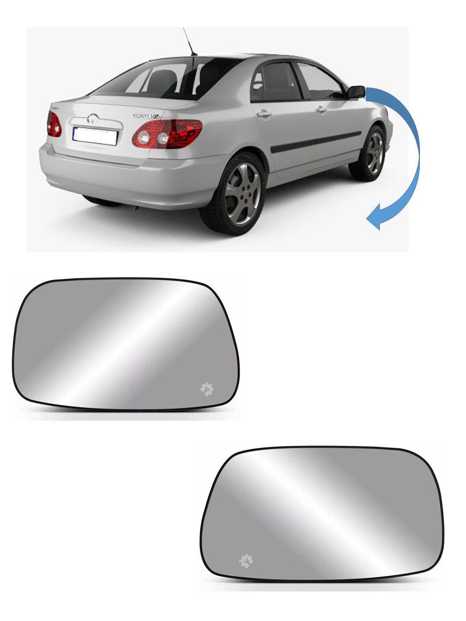Par Lente base Retrovisor Direto Esquerdo Corolla 2002 2007