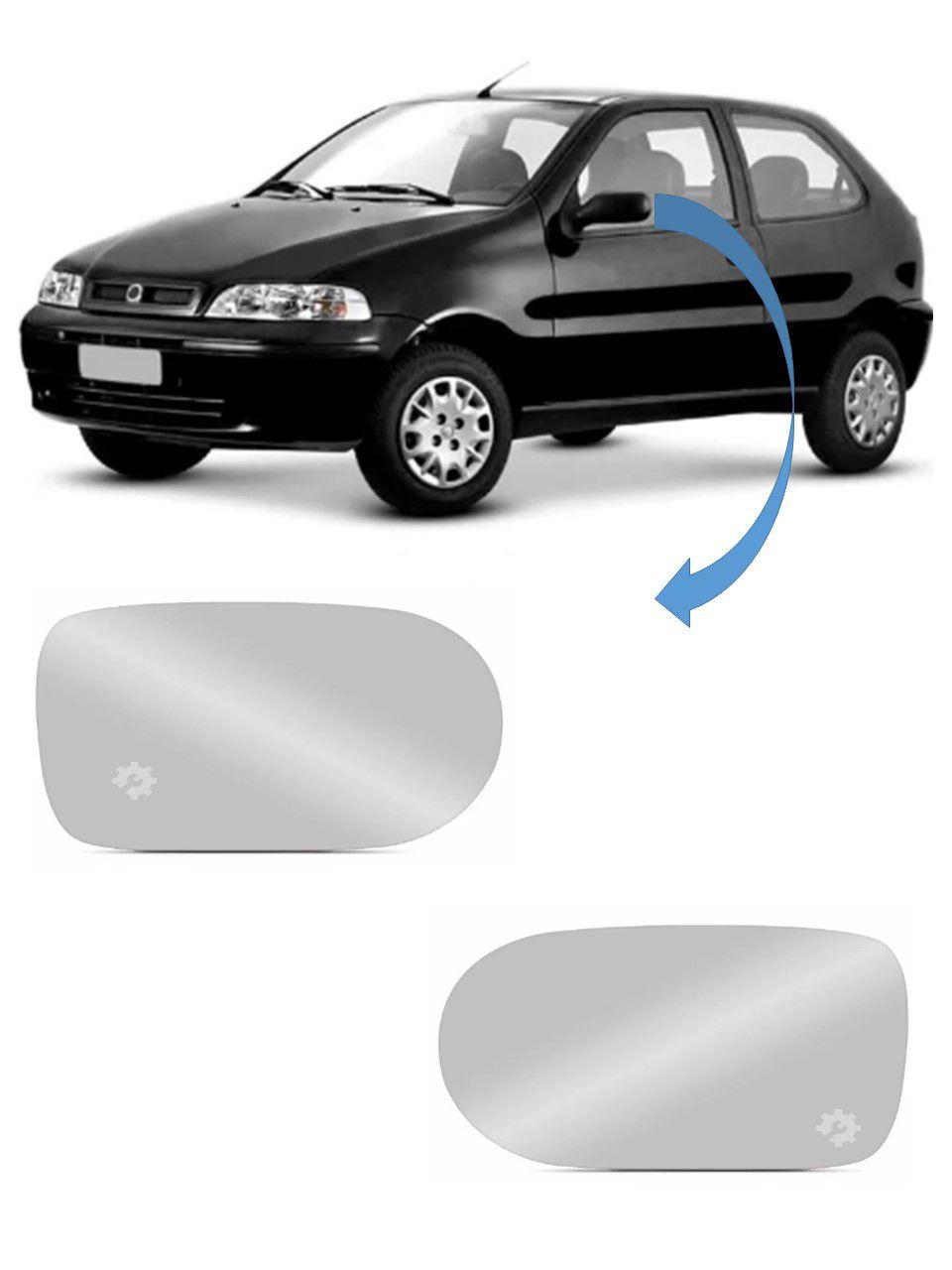 Par Lente base Retrovisor Fiat Palio G2 G3 2001 2002 2003