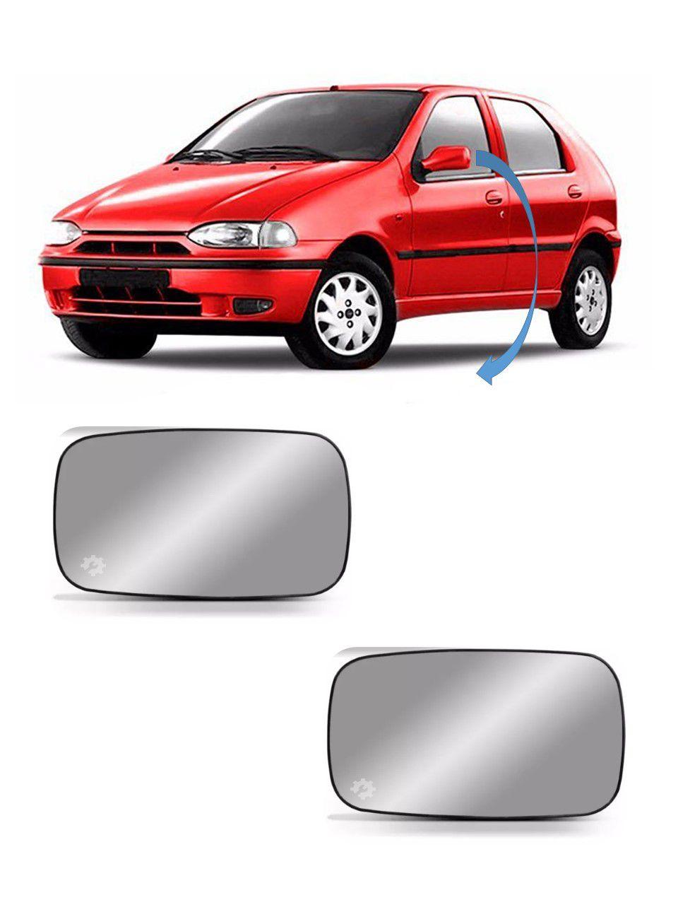 Par Lente base Retrovisor Fiat Palio Strada 1996 98 2000