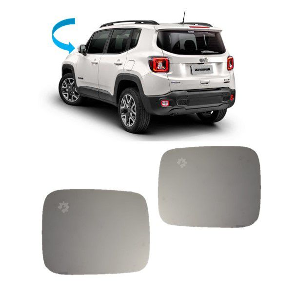 Par Lente Base Retrovisor Jeep Renegade 2015 2017 2020