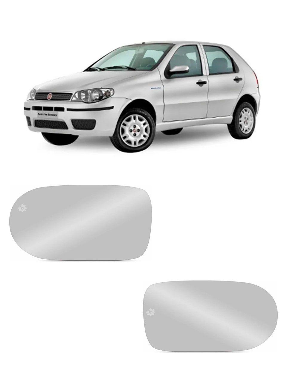 Par Lente base vidro Retrovisor Fiat Palio 2004 2005 2010