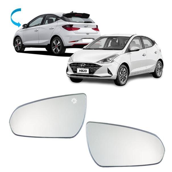 Par Lente Vidro Base Retrovisor Hyundai HB20 2020