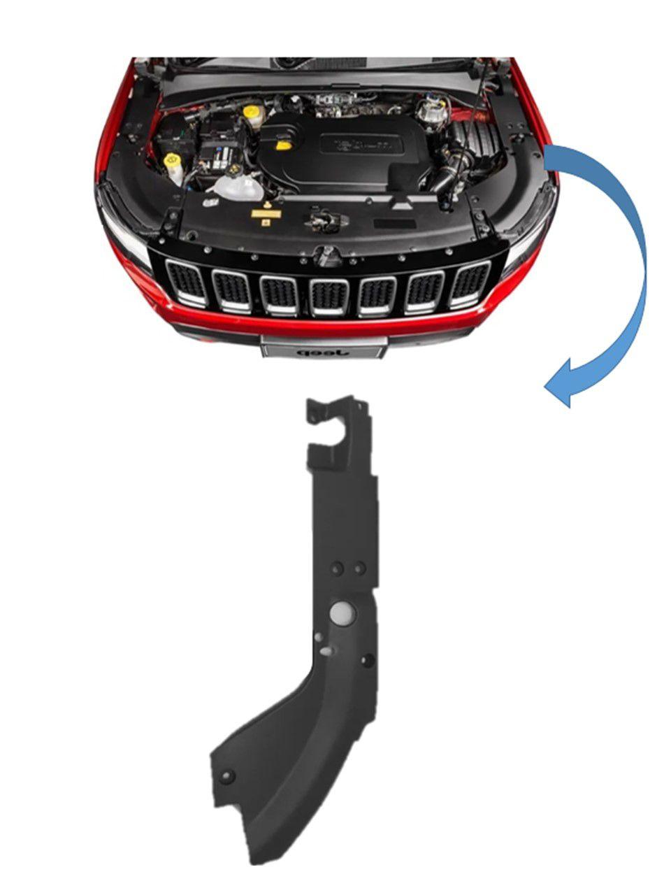 Par Moldura Acabamento Motor Jeep Compass 2019 2020 Original