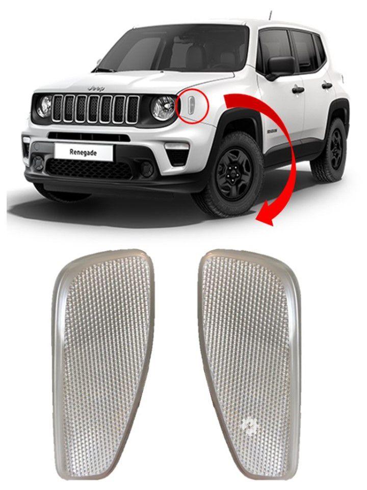 Par Refletor Dianteiro Jeep Renegade 2017 2018 2019 Original
